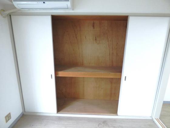 収納大容量の収納スペースも完備。