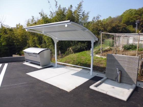 共有部分敷地内専用ゴミステーション、駐輪場、ペット足洗い場