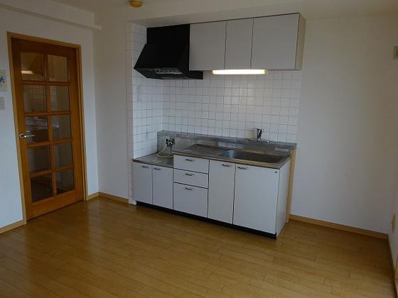 キッチン2口ガスコンロ設置可能なキッチン(都市ガス)