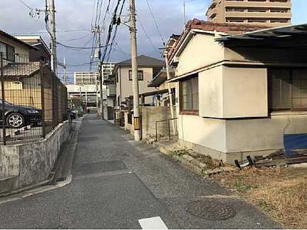 前面道路含む現地写真建築条件無し【お好きなハウスメーカーで建築できます】 JR天神川駅まで徒歩10分