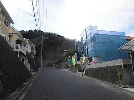 前面道路含む現地写真敷地面積ゆとりの50坪 美しい街並み高須台パークタウン