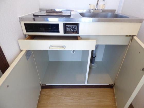 収納キッチン下には便利な収納。