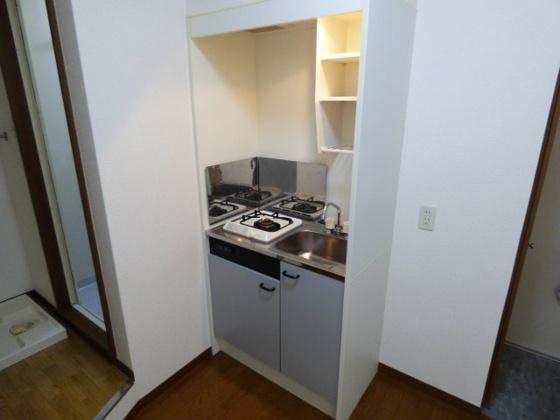 キッチン機能的なミニキッチン。