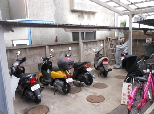 共有部分バイク置き場