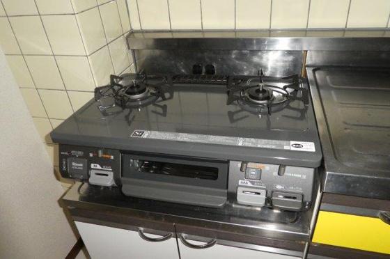 キッチン新品2口ガスコンロ