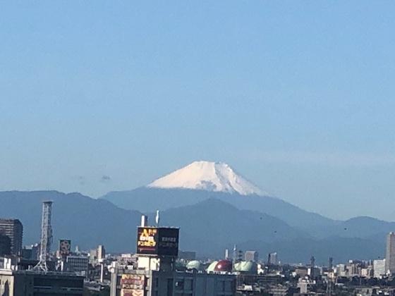展望最上階で遮るものがないため、富士山も見えます!