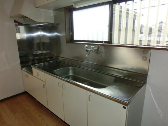 キッチン2口ガスコンロ設置可の大型キッチン