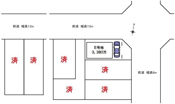 その他区画図:全7区画の現場で残り1区画のみとなりました。