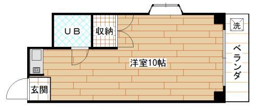間取り角部屋 出窓 収納 1口ガスコンロ 洗濯機置場