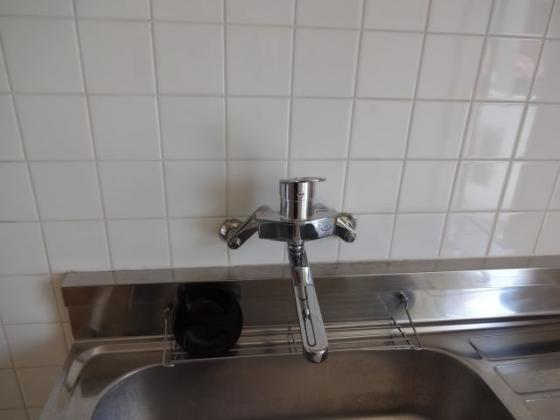 設備シングルレバー水栓新規交換