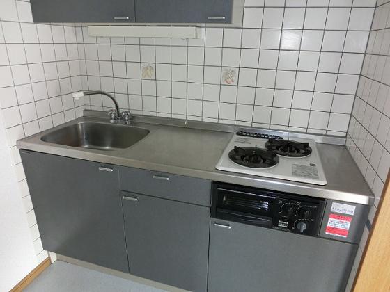 キッチン2口ガスコンロ・グリル付のシステムキッチン
