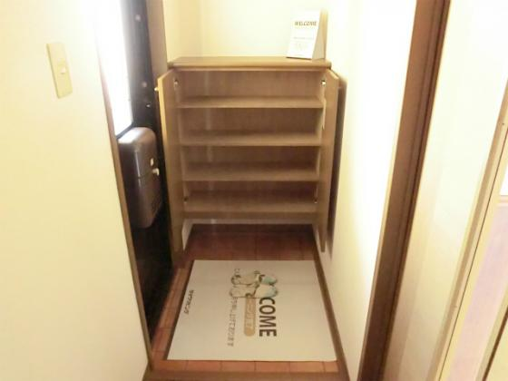 収納玄関の下駄箱